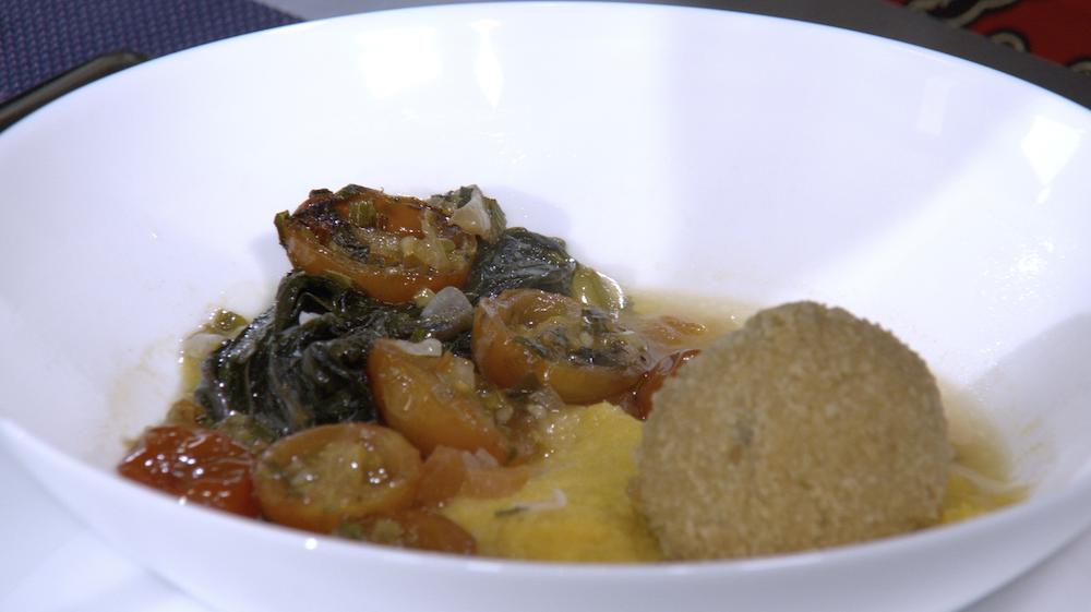 Découvrez la recette de Matembele Croquettes et Purée de Patates Douces du Chef Yumbi de République Démocratique du Congo préparée dans Recettes d'Afrique