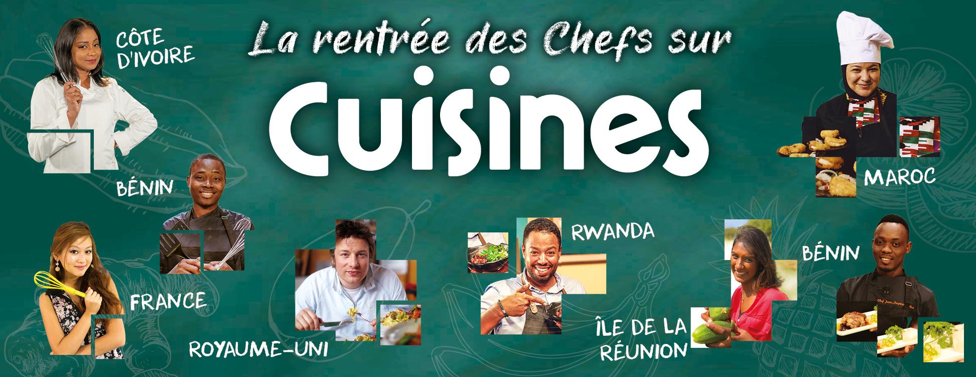 La rentrée des chefs sur Cuisines avec Jamie Oliver, Prisca Gilbert, John Goffin